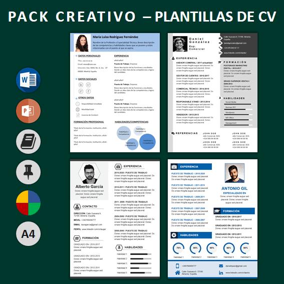 Pack Curriculum CreativoCV
