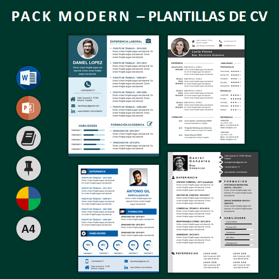 Pack Currículum ModernCV para optimizar una hoja de vida laboral