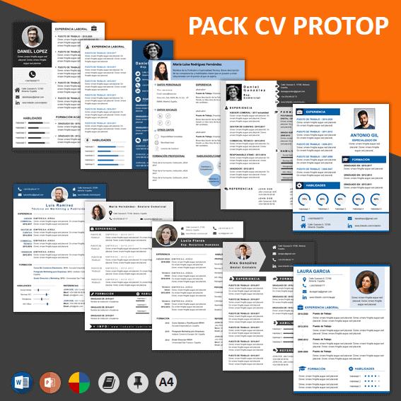 Pack Currículum ProTOP con trucos para hacer un currículum original