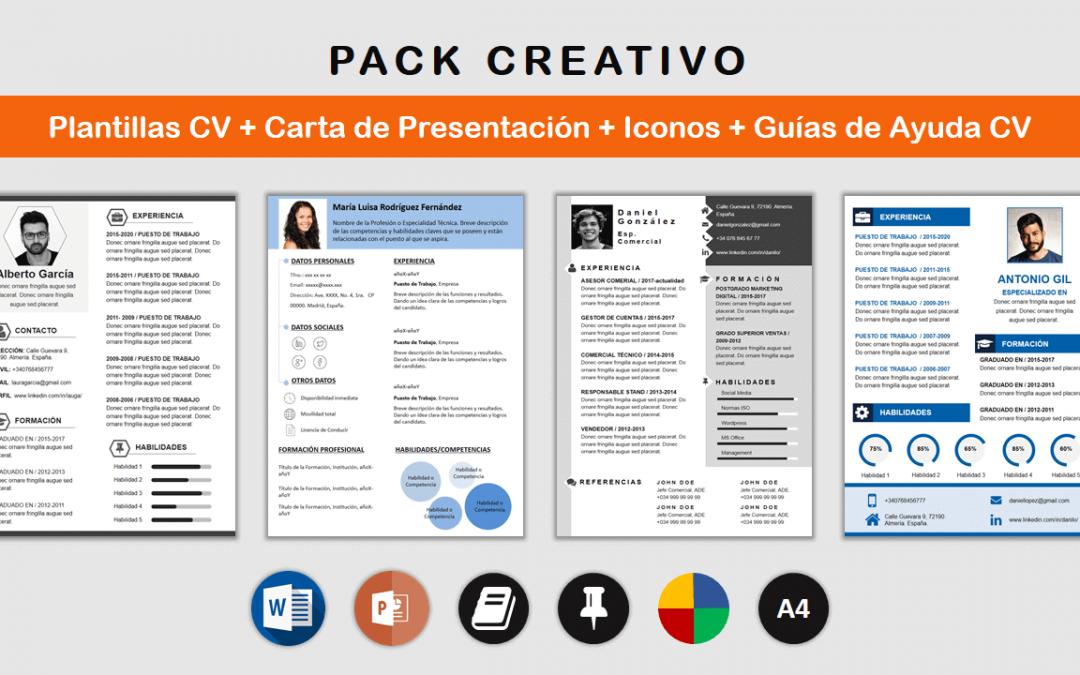Paquete Plantillas CV Creativo: los recursos para un CV Original.