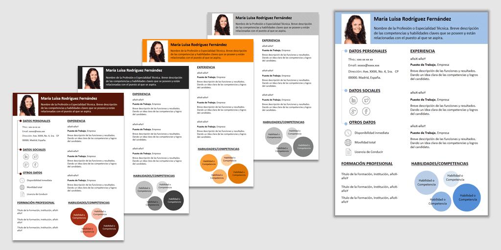 Plantilla para currículum Infocircle
