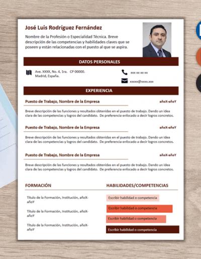 Plantilla para Currículum Infoblock